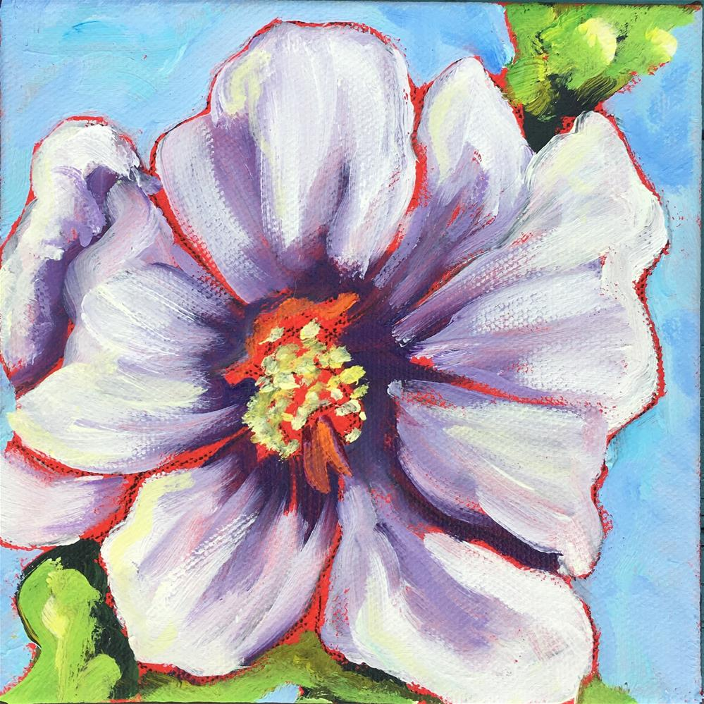 """Hollyhock"" original fine art by Robyn Wellman"