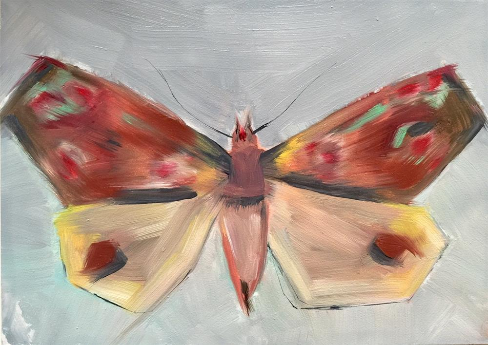 """41 Moth"" original fine art by Jenny Doh"