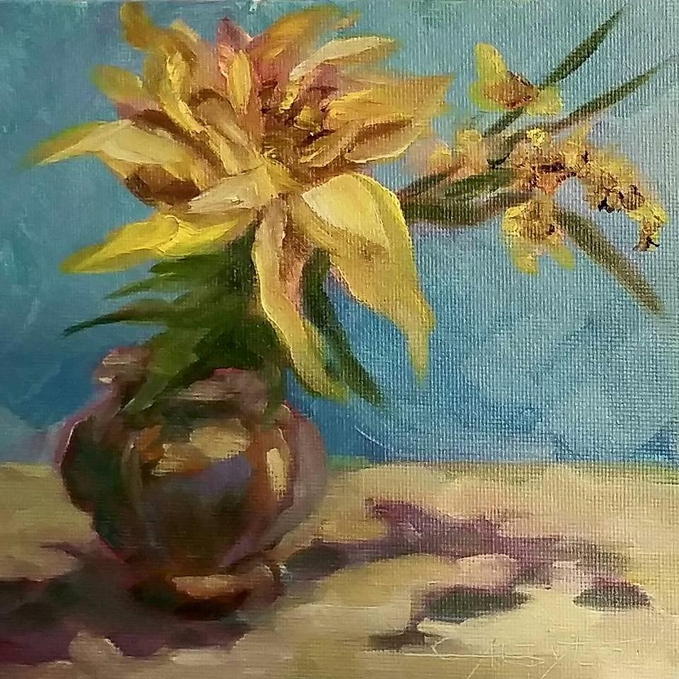"""Flower"" original fine art by Gabriella DeLamater"
