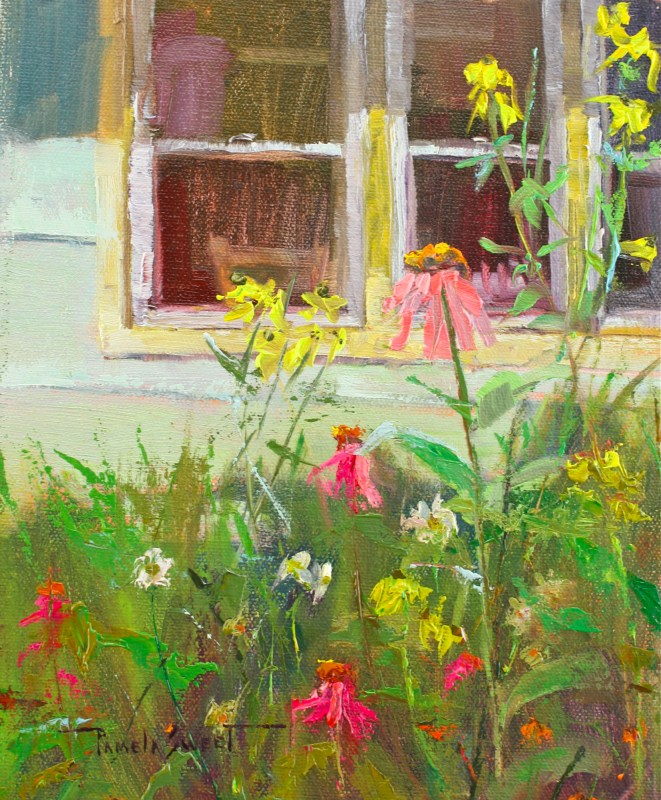 """Cottage Flowers"" original fine art by Pamela Sweet"