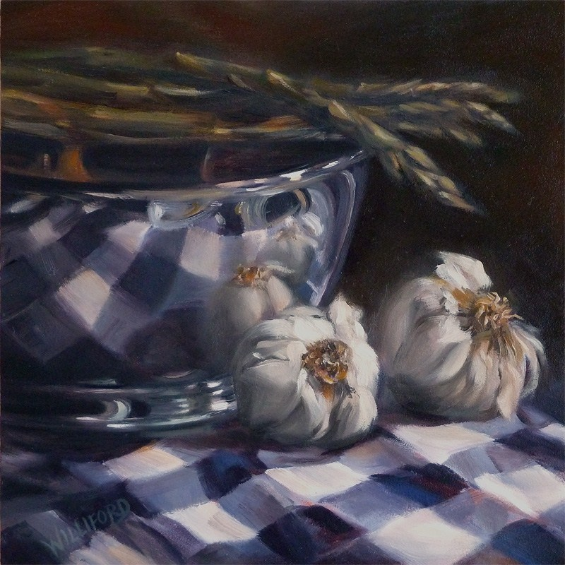"""Garlic and Gingham"" original fine art by Kathleen Williford"