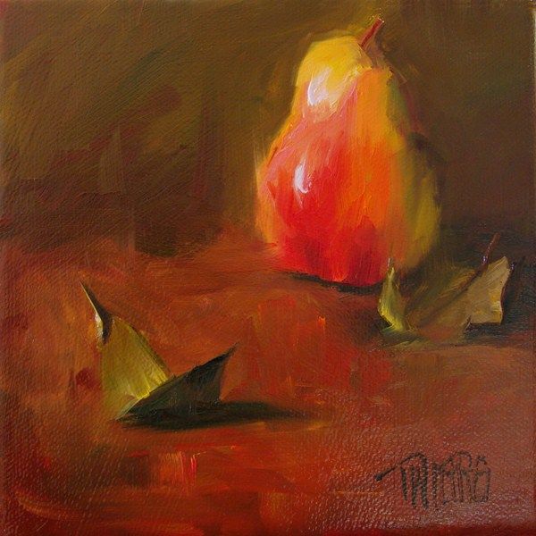 """Pear 1"" original fine art by Lori Twiggs"