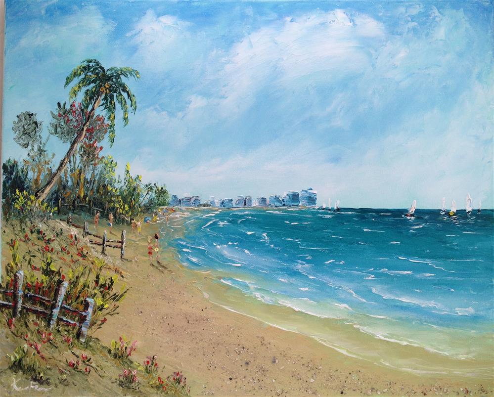 """Marco Island Beach"" original fine art by Ken Fraser"