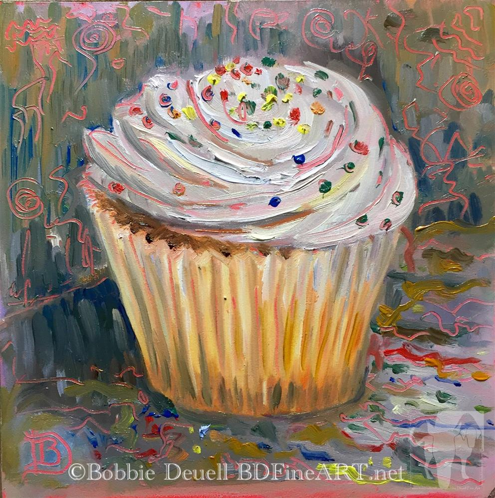 """#41 Cupcake Sprinkle Celebration #2"" original fine art by Bobbie Deuell"