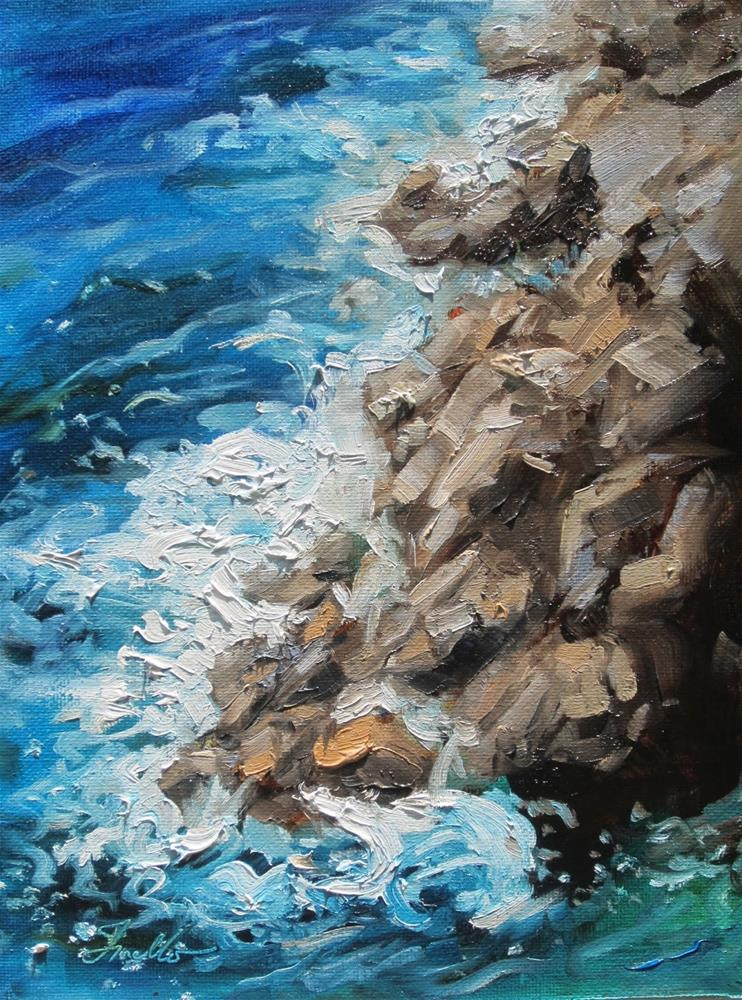 """Costa Brava I"" original fine art by Pat Fiorello"