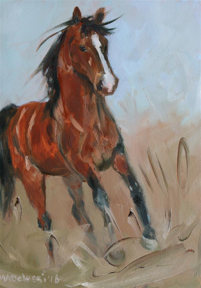 """Horse power"" original fine art by Miranda Dalessi"