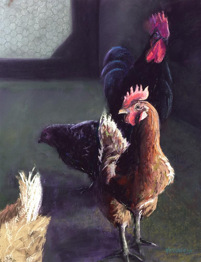 """Was It Something We Said?"" original fine art by Cristine Kossow"
