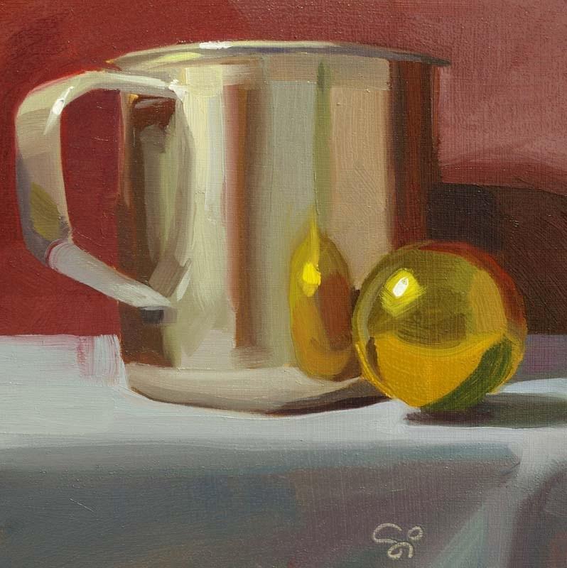 """""""Silver and Gold"""" original fine art by Istvan Schaller"""