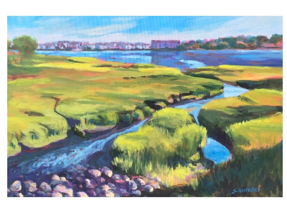 """View Toward Portland from Millcreek"" original fine art by Suzanne Woodward"