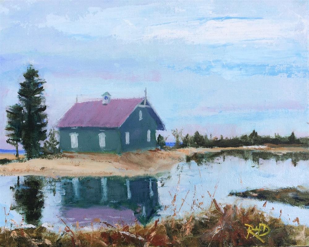"""The Gamecock Cottage"" original fine art by Richard Doyle"