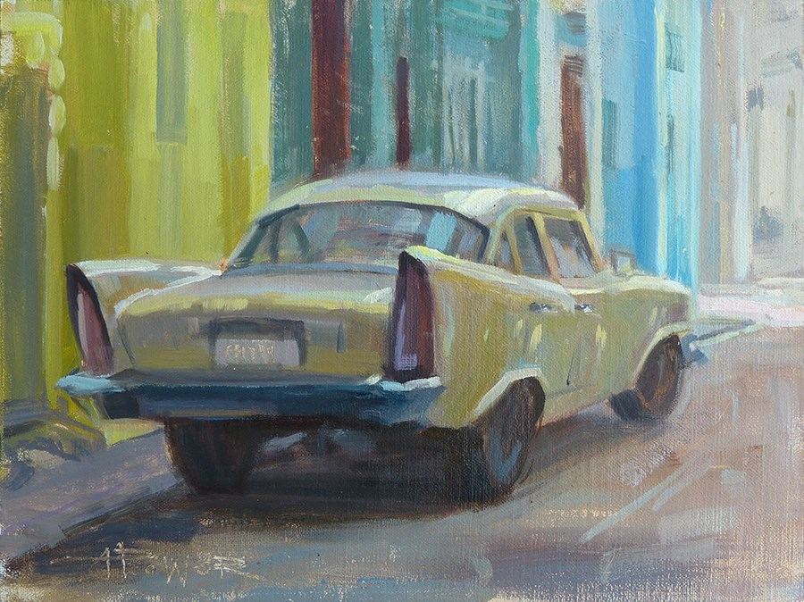 """Cuba - Alley Patina"" original fine art by Anette Power"