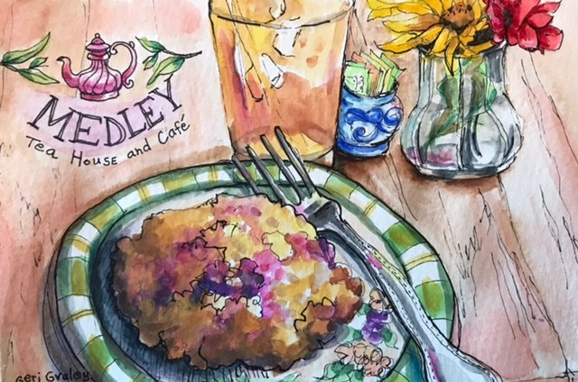 """Berry Scone"" original fine art by Geri Graley"