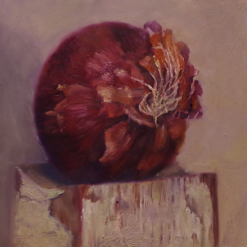 """Red Onion"" original fine art by Marilyn R. Place"