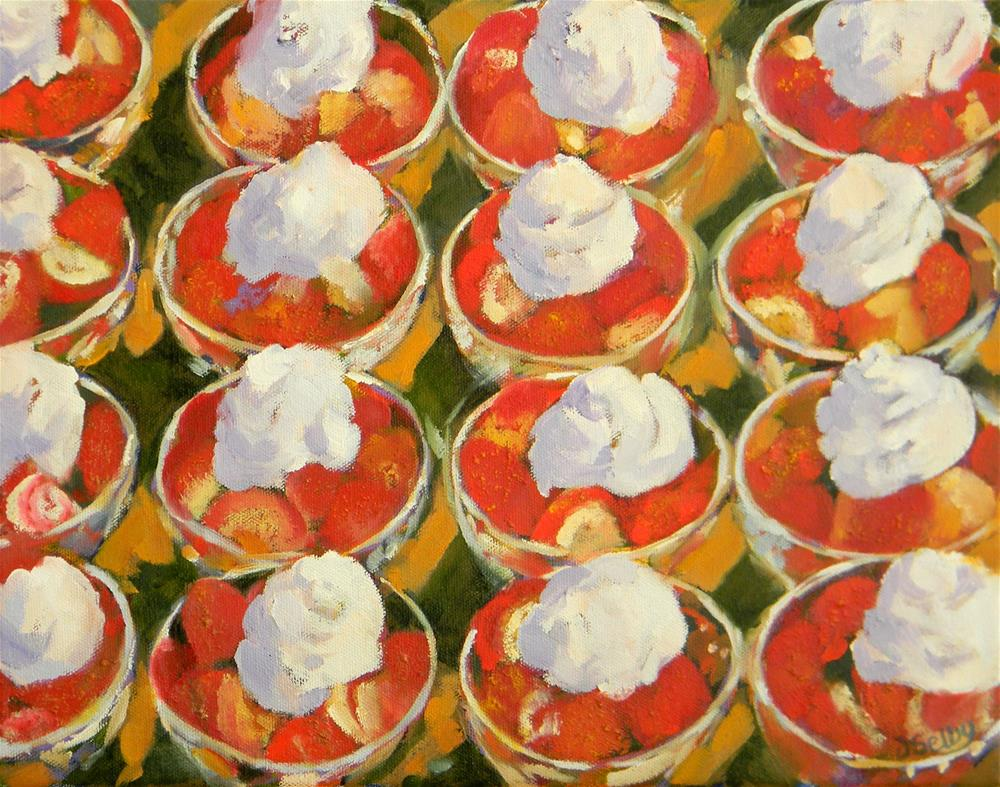 """Strawberry Bowls"" original fine art by De Selby"