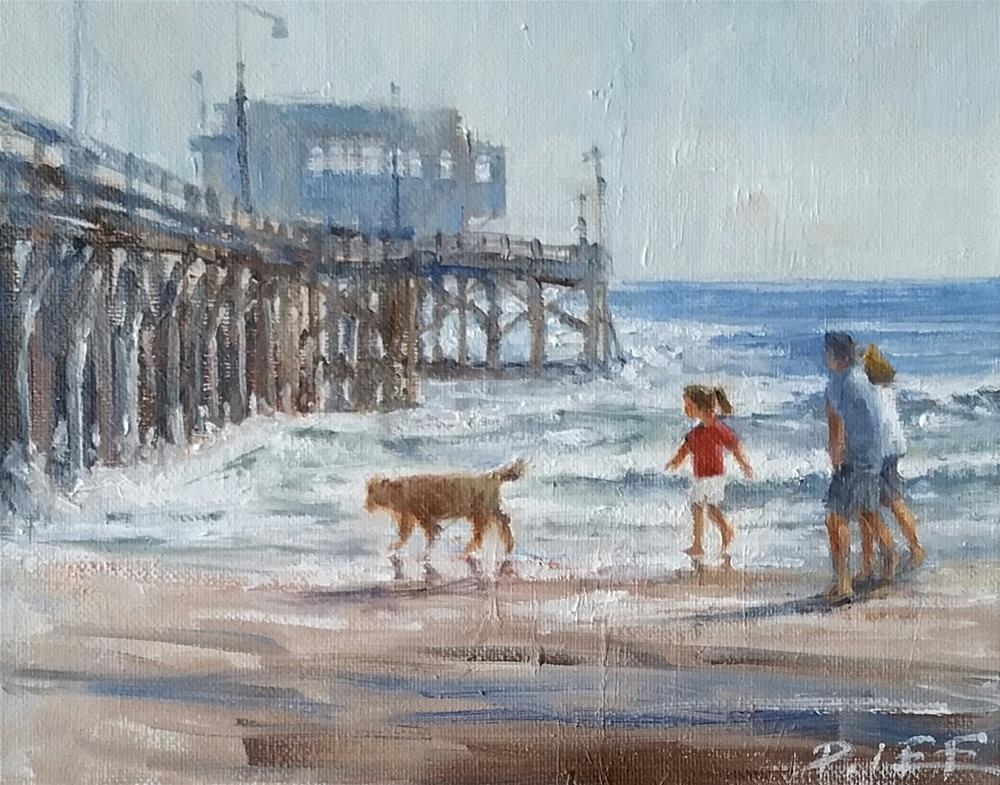 """Newport Beach"" original fine art by Peter Lee"