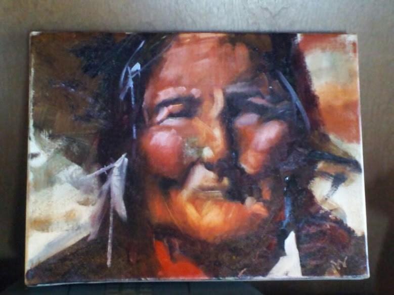 """""""Native Determination"""" original fine art by Pamela Wedemeyer"""