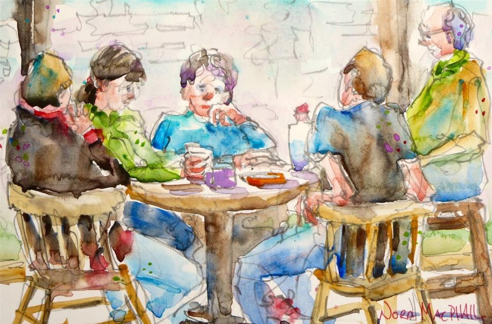 """late lunch"" original fine art by Nora MacPhail"