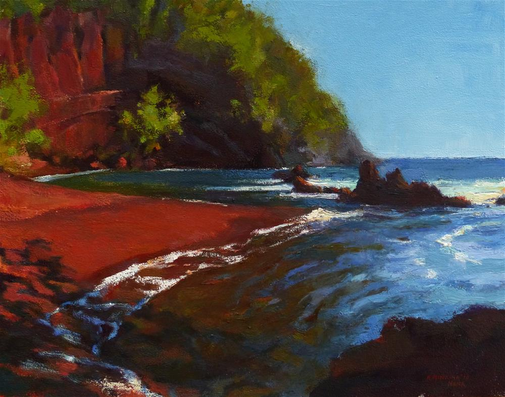 """Kaihalulu Beach"" original fine art by Katya Minkina"