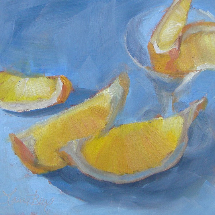 """Lemon Shots 444"" original fine art by Laura  Buxo"