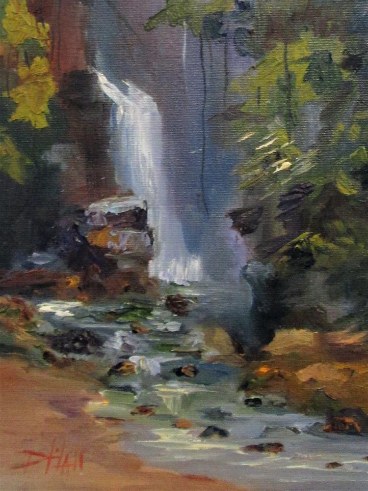 """COsta Rica Waterfalls"" original fine art by Delilah Smith"