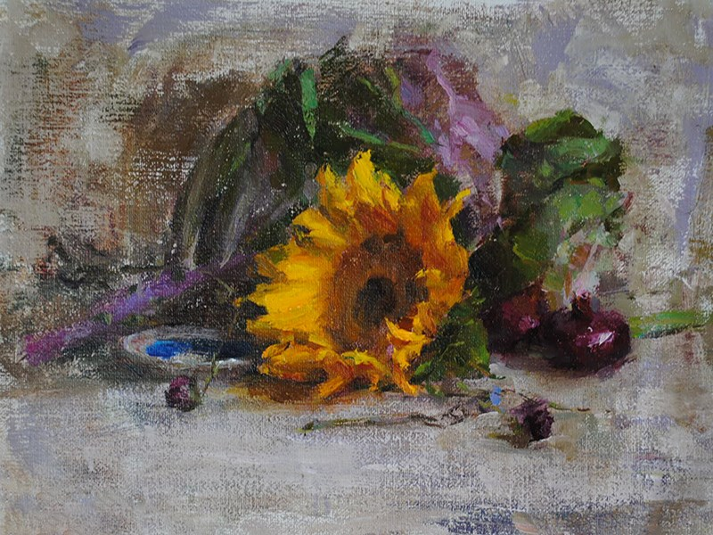"""sunflower"" original fine art by Taisia Kuklina"