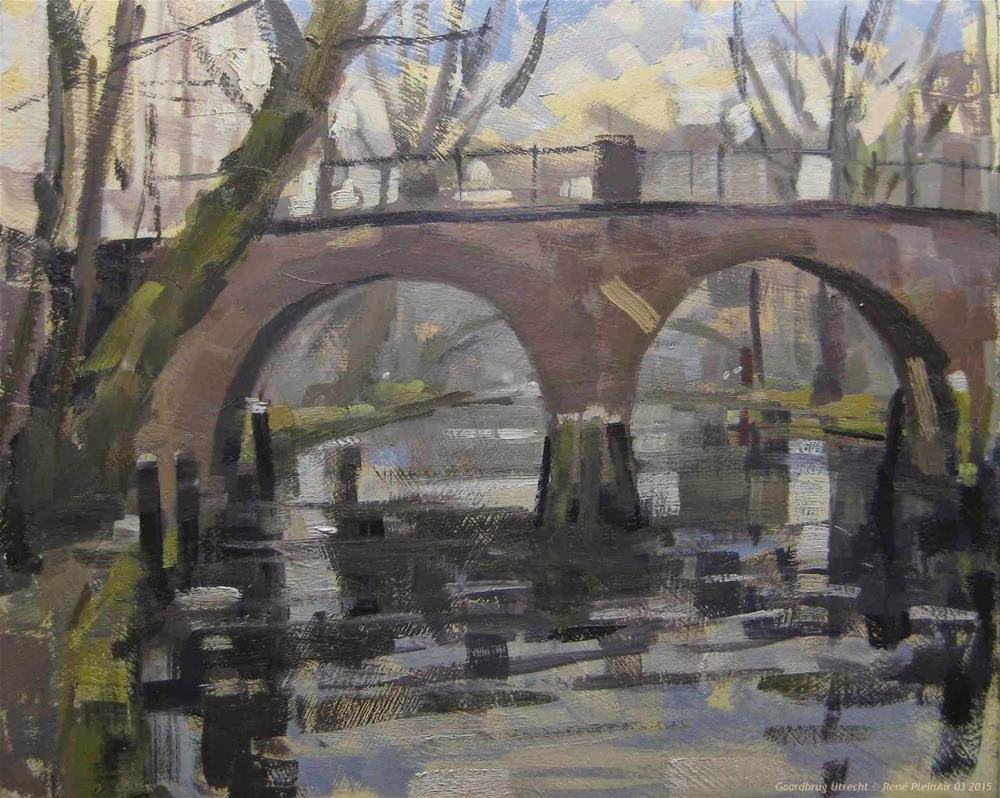 """Gaardebrug Utrecht, The Netherlands"" original fine art by René PleinAir"