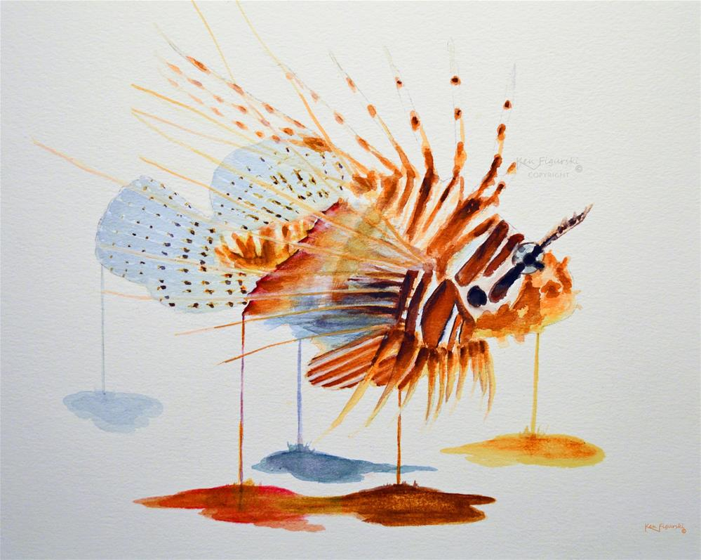 """Lionfish"" original fine art by Ken Figurski"