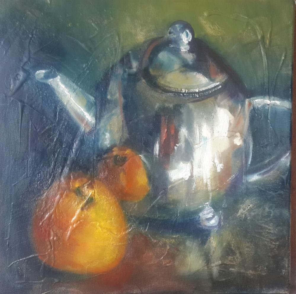 """Orange tea?"" original fine art by Rentia Coetzee"