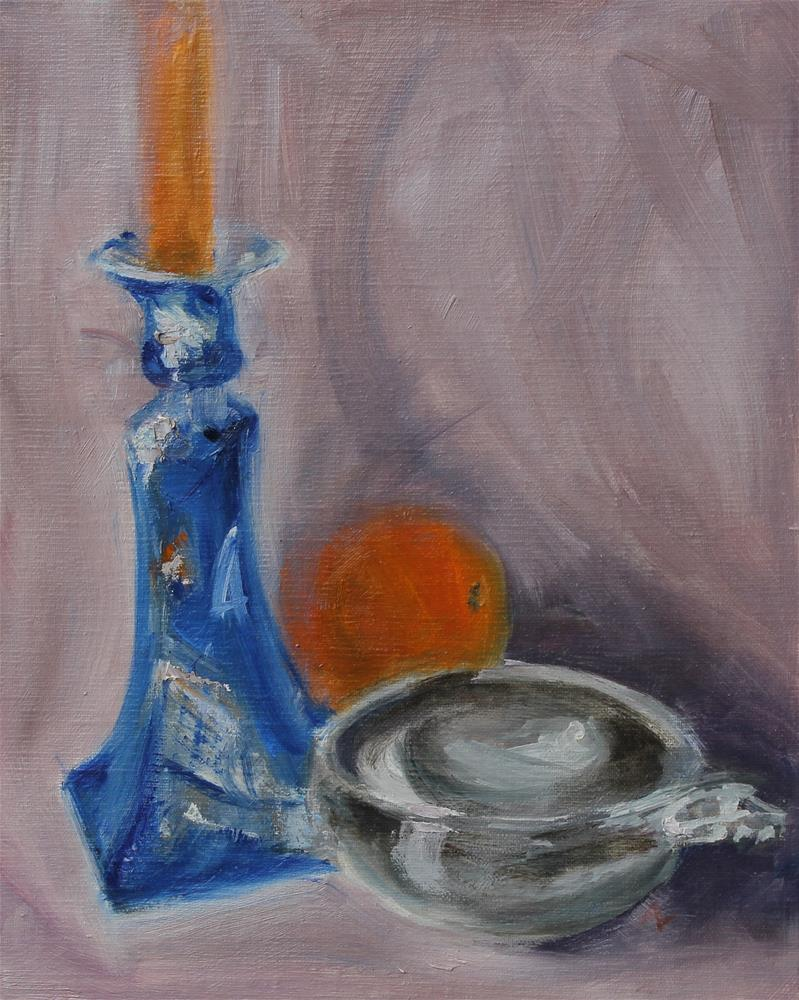 """Candlelight"" original fine art by Karen Solorzano"