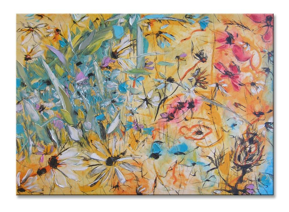 """Golden garden"" original fine art by Elena Lunetskaya"