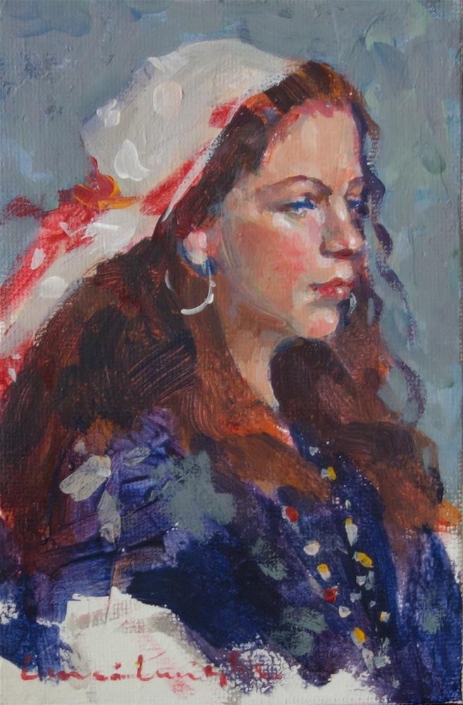 """""""Gypsy woman"""" original fine art by Lorraine Lewitzka"""
