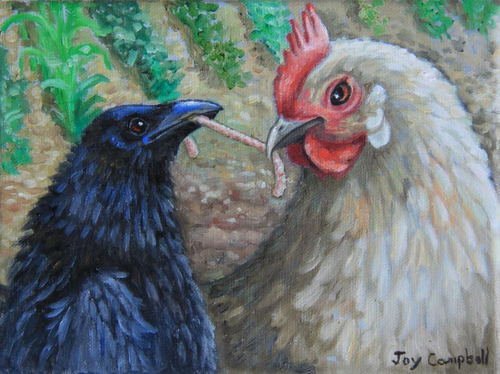 """My Worm"" original fine art by Joy Campbell"