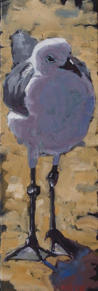 """Long Tall Gull"" original fine art by Rick Nilson"