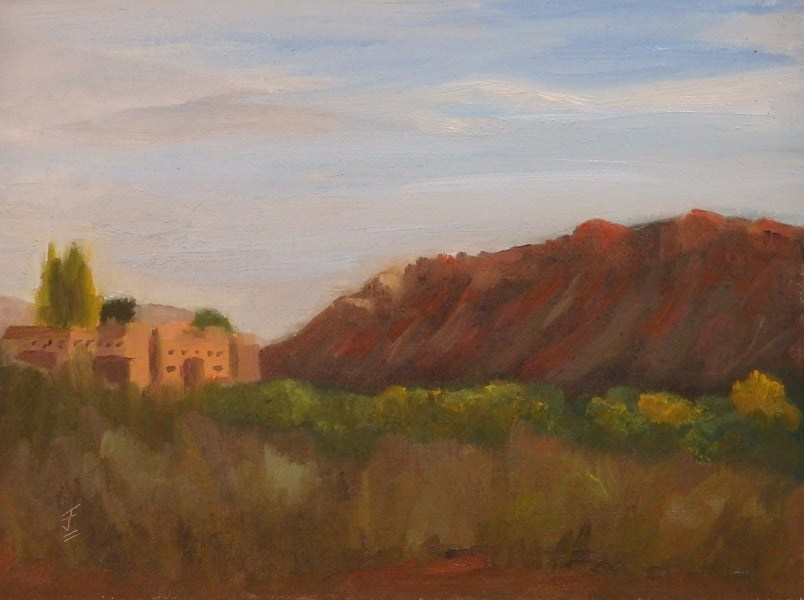 """Evening Light"" original fine art by Jane Frederick"