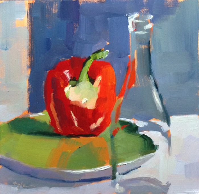 """Red Pepper"" original fine art by Katia Kyte"