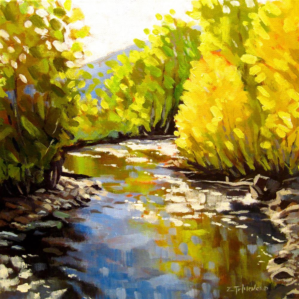 """Trail Creek Reflections"" original fine art by Zack Thurmond"