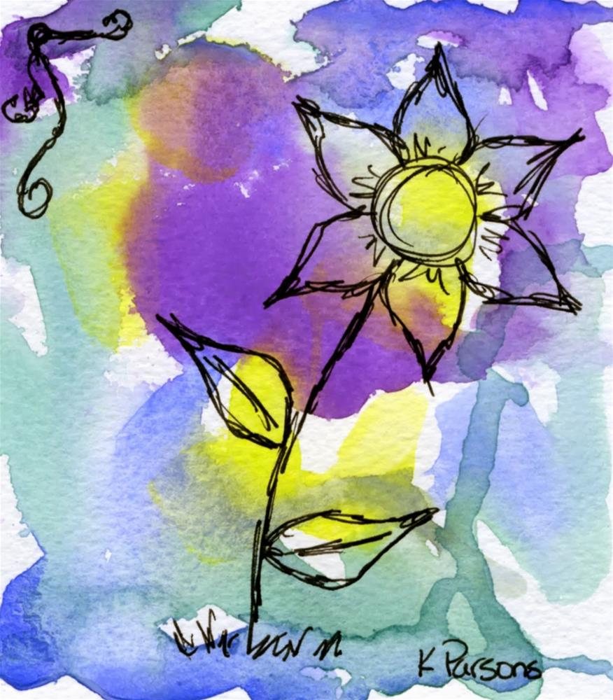 """Sketch on Top"" original fine art by Kali Parsons"