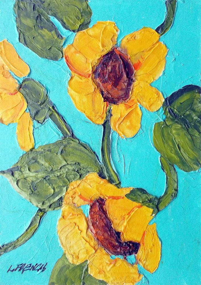 """Wild Black Eyed Susan's"" original fine art by lynne french"