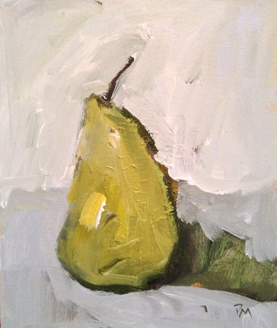"""Rustic Pear"" original fine art by Pamela Munger"