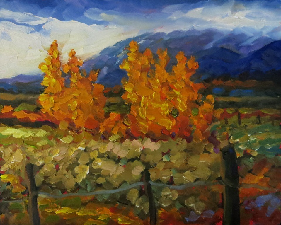 """#104  TAOS MOUNTAIN IN FALL"" original fine art by Dee Sanchez"