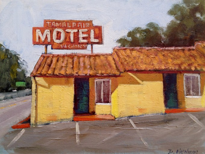 """Old Motor Inn"" original fine art by Deborah Newman"