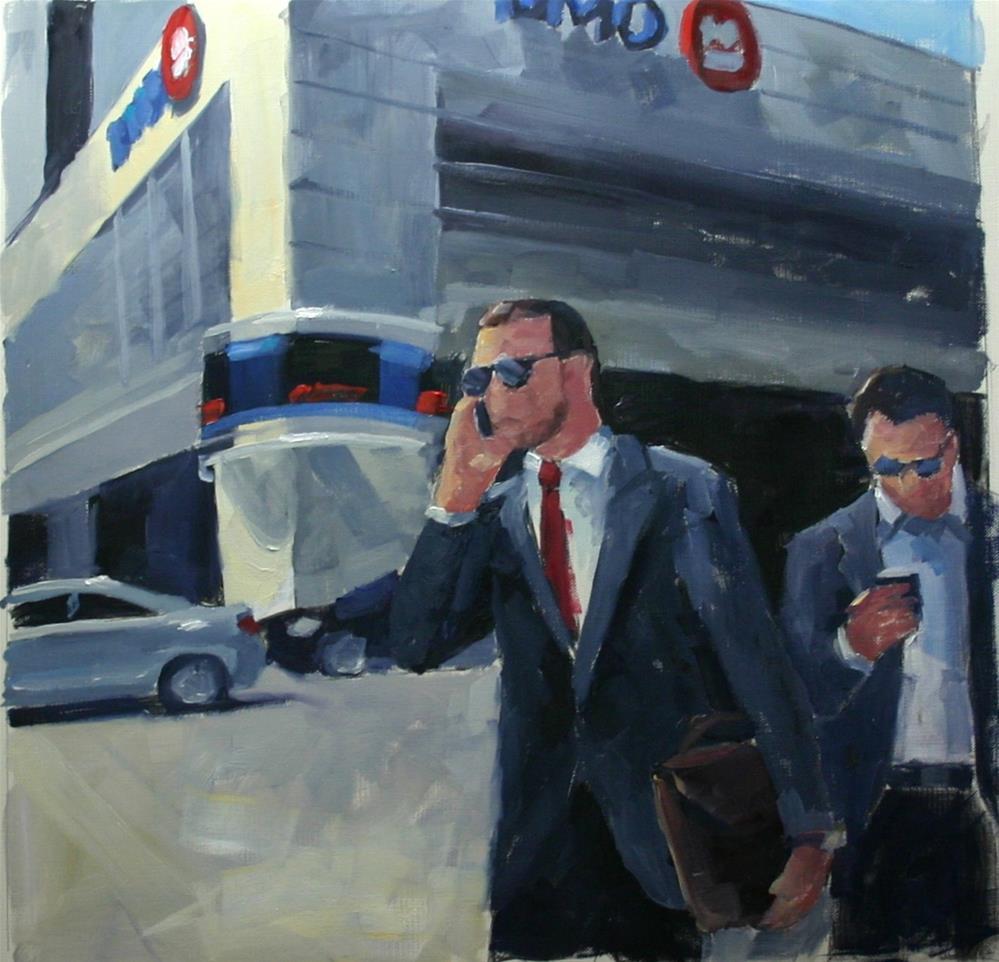 """launch Break, Bay Street at King"" original fine art by Catherine Jeffrey"