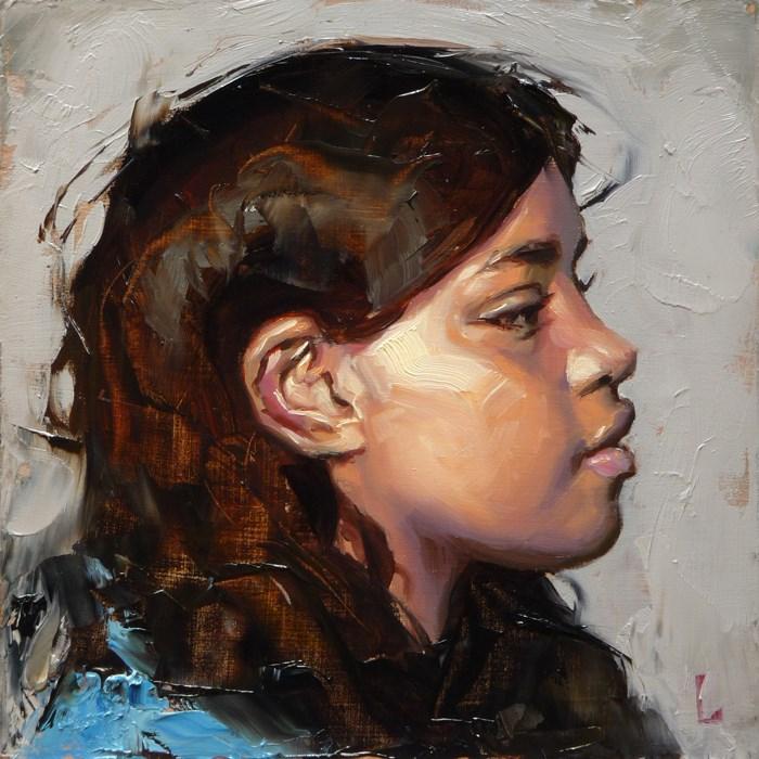 """In Gray"" original fine art by John Larriva"