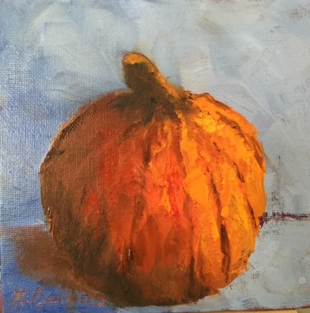 """Big Orange"" original fine art by Kathy Collins"