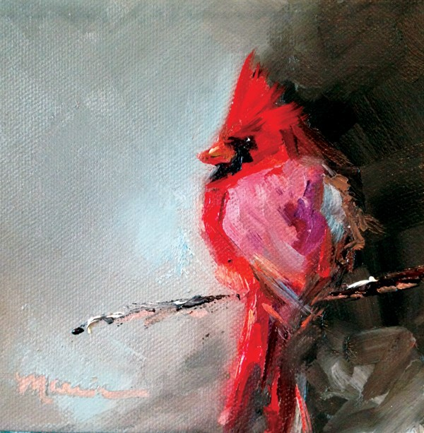 """Red"" original fine art by Marcia Hodges"