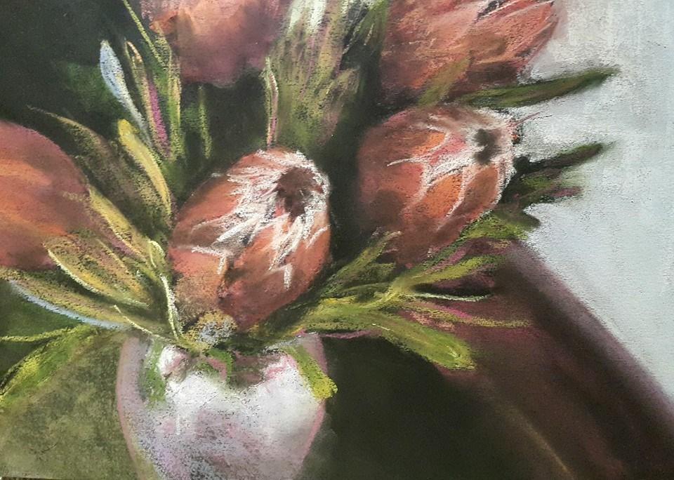 """Proteas"" original fine art by Rentia Coetzee"