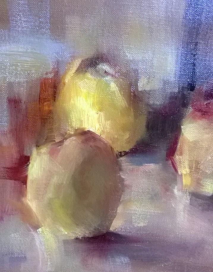"""Golden Delicious"" original fine art by Scott Serafica"