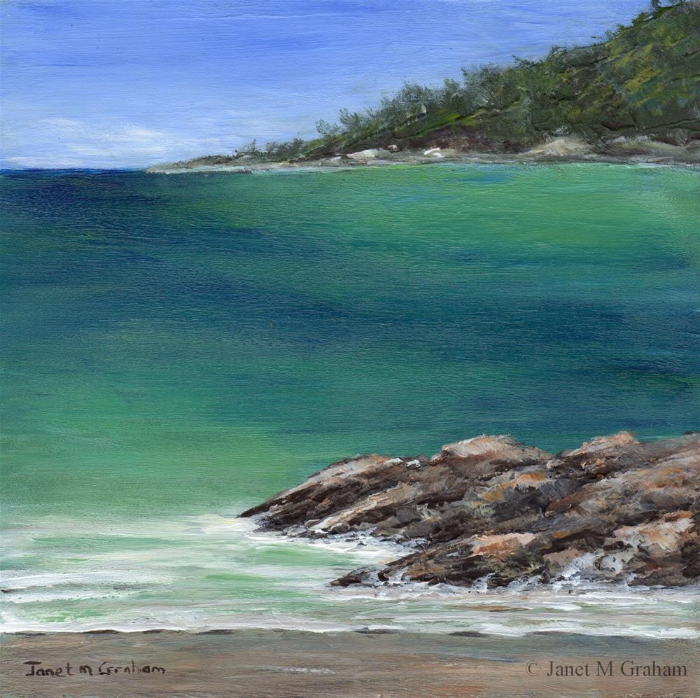 """Tranquil Sea"" original fine art by Janet Graham"