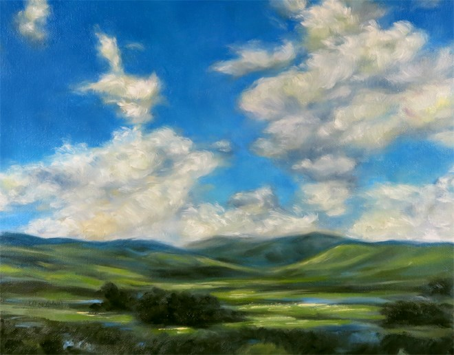 """Going Green"" original fine art by Carol Zirkle"
