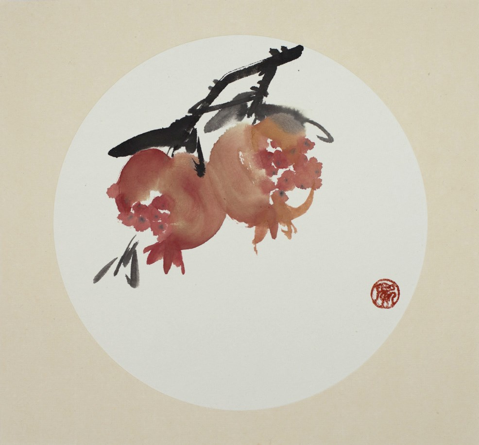 """Pomegrante version 2"" original fine art by R kwong"